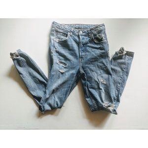 H&M vintage ripped skinny jeans 28